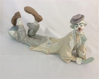 """Lladro Clown, 15""""L."""
