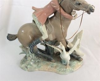 "Lladro Man on Horseback, 12""H."