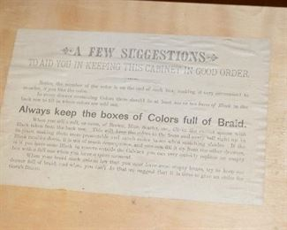 Old general store display for Goff's Best Braids