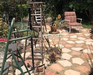 Yard art.  Chair is not for sale