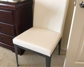 lovely white leather chair