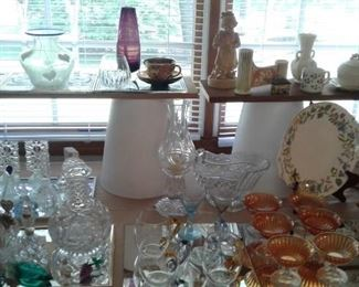 more glassware and collectibles