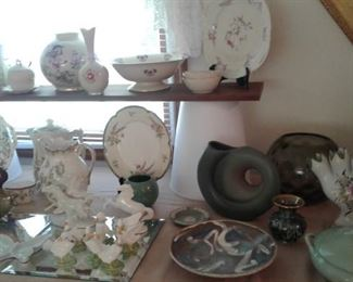 more!   Pottery and china and glassware