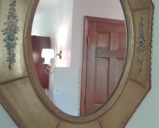 Mirror with 3 D hand painted frame