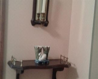 Petite little wall sconce and shelf