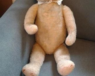 23 inch+mohair straw stuffed bear!
