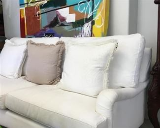 BirchLane Sofa / throw pillows sold separately/wall painting
