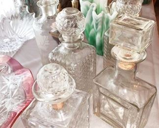 Variety Of Glass Decanters