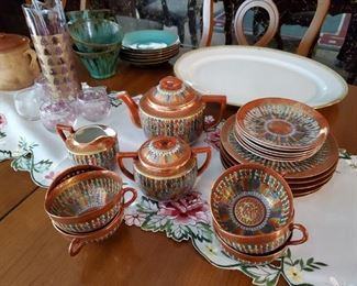 Antique Thousand Faces Tea Set Made in Japan