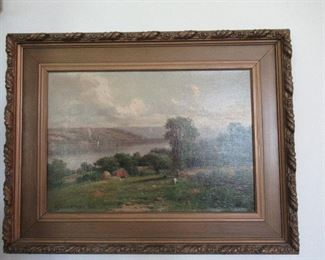 Wm Bruce born in Auburn, NY   This painting overlooks Skaneateles Lake and was painted in 1902.