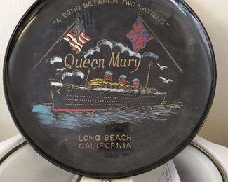 Queen Mary souvenir tray