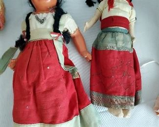 Vintage Mexico souvenir dolls from the 1930s