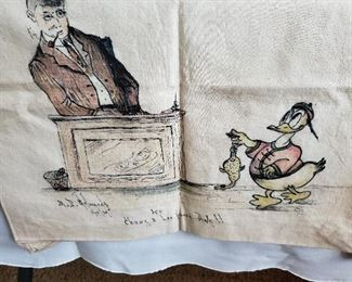 Handpainted and dated 1939. Looks like Donald Duck!