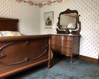Oak Mirrored Dresser