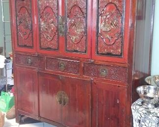 "China Cabinet Dimensions 69.5"" High  62 "" wide 24"" deep"