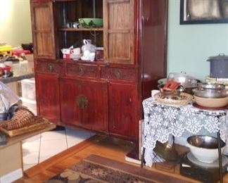Latge carpet, Nadeau china cabinet