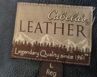 Cabelas Leather Coat, mens