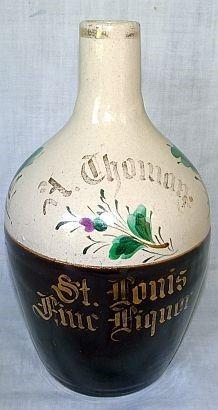 St, Louis, MO Advertising Stoneware Wine Jug
