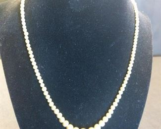 8in pearl necklace