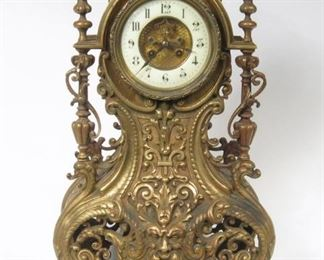 French Bronze Clock by Vincenti & Cie Medaille D' Argent.