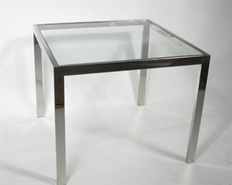Mid Century Chrome and Glass Table