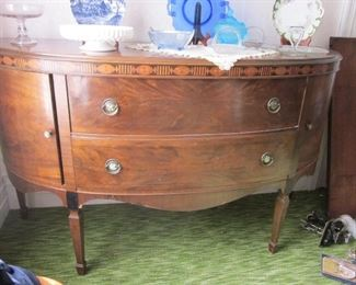 curved front buffet