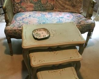 Nice Settee with Nesting Tables