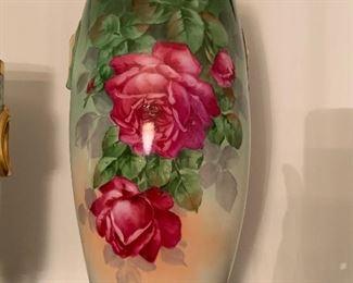 Large hand painted vase, Austria