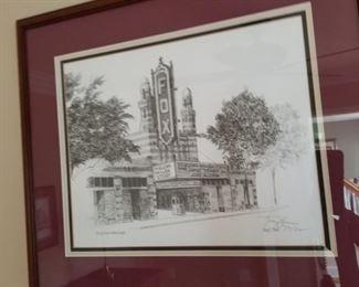 Atlanta Fox theater framed print