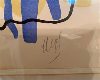 Fernand Leger, litho , signed in pencil, numbered 67/75