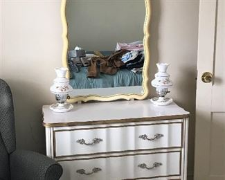 Dresser,nightstand and full size bedframe set