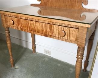 Gorgeous tiger maple desk/vanity. Excellent condition. From 1800's
