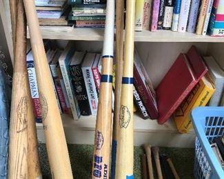 Original vintage MLB bats.  Plus vintage signed baseballs
