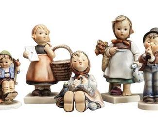 6. Set of German Porcelain Figurines of Children