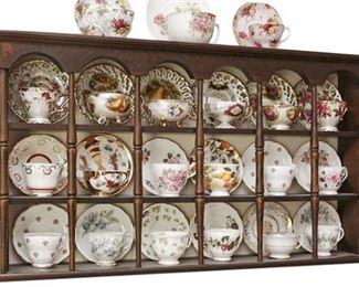 9. Georgian Style Hanging Display Cabinet