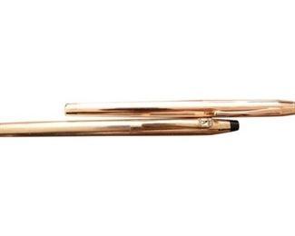 1. Pair Gold Filled CROSS Ballpoint Fountain Pens
