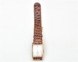 2. 14K wDiamond Dial GRUEN CURVEX Wristwatch
