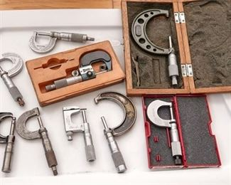 6. Group Lot of Watchmakers Precision Caliper Tools