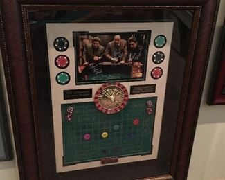 Framed Autographed Sopranos Memorabilia by Millionaire Gallery, Number 2 of 10