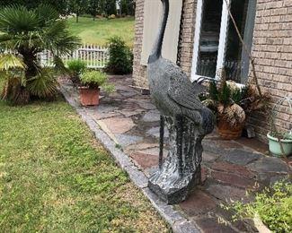 5' Tall Granite Crane or Heron