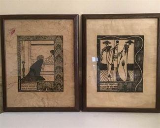 A Pair of Woodcut Art Pieces https://ctbids.com/#!/description/share/157131