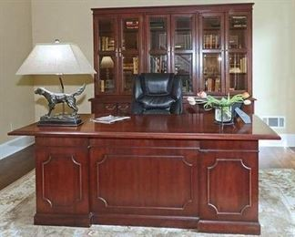 Solid Wood Kimball Presidential Desk
