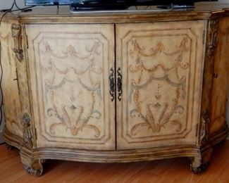 "Hand painted Credenza 65"" wide x 23"" deep x 40"" high"