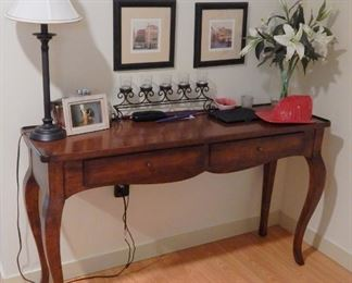 """Console/hall table  54"""" wide x 16"""" deep x 31"""" high"""