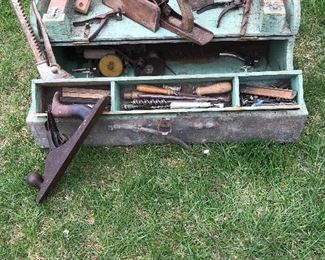 Antique Wood Workers Tool Box
