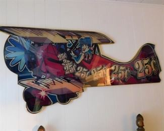 What a great piece of wall decor for a kid's room, game room,  or Man Cave.  This piece came from a Casino in MS