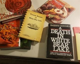 Cookbooks, cookbooks, lots of White Bear Lake books.