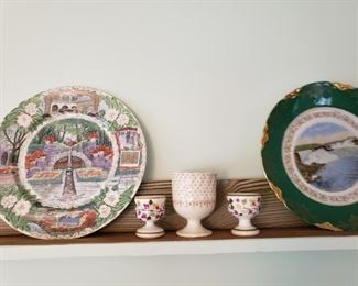 Collectible plates, cups, glasses, more.