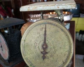 2 antique scales