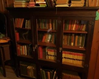 Fabulous antique book case filled with antique books!!!